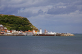 view harbour south beach scarborough north yorkshire harbor uk coastline coastal environmental seaside resort east coast town sea united kingdom british