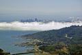 looking south mt tamalpais foggy san francisco california american yankee travel skyline marin peninsula county headlands pacific mist californian usa united states america