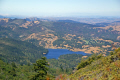 looking north bon tempe lake taken mt tamalpais near san francisco. wilderness natural history nature misc. marin peninsula county headlands california californian usa united states america american