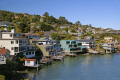 waterside housing attractive suburb tiburon marin county near san francisco california american yankee travel peninsula headlands californian usa united states america