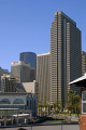 embarcadero center san francisco skyline tiburon ferry. california american yankee travel bay area waterfront city offices tower block pier building californian usa united states america