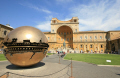 sphere sculpture pine garden vatican city rome lazio italian european travel art roma roman italy italien italia italie europe united kingdom british