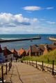 harbour abbey steps whitby north yorkshire harbor uk coastline coastal environmental sea resort piers england english angleterre inghilterra inglaterra great britain united kingdom british grande-bretagne grande bretagne grandebretagne großbritannien gran bretagna bretaña