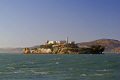 alcatraz setting sun. taken tiburon ferry san francisco california american yankee travel penitentiary rock prison incarceration penal colony criminal bay area californian usa united states america