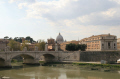view st petes dome river tiber rome lazio italian european travel religion rooftops roma roman italy italien italia italie europe united kingdom british