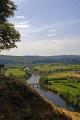 view dordogne valley village domme french landscapes european travel aquitaine floodplain farming arable cultivation countryside river perigord noir france la francia frankreich europe