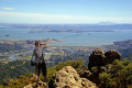photographer mt tamalpais near san francisco looking east north bay richmond bridge california american yankee travel marin peninsula county headlands californian usa united states america