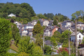leafy suburbs town tulle southern limousin french landscapes european travel correze river valley medieval mediaeval faubourg banlieue france la francia frankreich europe