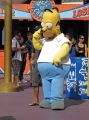 homer simpson universal studios hollywood. los angeles la california american yankee travel hollywood theme park tinseltown cinematography production movies film californian usa united states america