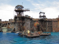waterworld universal studios hollywood. los angeles la california american yankee travel hollywood theme park tinseltown cinematography production movies film stunt californian usa united states america