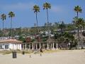 beach santa monica la los angeles california american yankee travel pacific coast sun bathing swimming surfing californian usa united states america