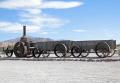 borax train furnace creek california death valley american yankee travel mule team mining steam minerals state park californian usa united states america