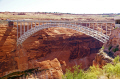 glen canyon bridge near page arizona. arizona american yankee travel lake powell hydro-electric hydro electric hydroelectric generating electricity renewable colorado river highway 89 usa united states america
