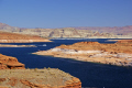 lake powell glen canyon dam near page arizona. arizona american yankee travel hydro-electric hydro electric hydroelectric generating electricity renewable colorado river highway 89 usa united states america