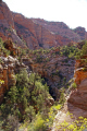 zion national park pine canyon taken overlook trail. rock formations geology geological science misc. navajo sandstone cliffs exposure np scenic byway highway jurassic utah usa united states america american