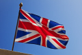 union jack flying building dunster somerset flags abstracts misc. flag mast patriotic symbol british england english angleterre inghilterra inglaterra great britain united kingdom uk grande-bretagne grande bretagne grandebretagne großbritannien gran bretagna bretaña
