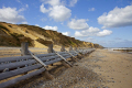wooden sea defences beach cromer norfolk uk coastline coastal environmental seaside erosion environment sand england english angleterre inghilterra inglaterra great britain united kingdom british grande-bretagne grande bretagne grandebretagne großbritannien gran bretagna bretaña