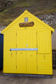 beach hut seafront sheringham norfolk huts unusual british buildings strange wierd uk seaside wooden yellow colourful traditional holiday england english angleterre inghilterra inglaterra great britain united kingdom grande-bretagne grande bretagne grandebretagne großbritannien gran bretagna bretaña