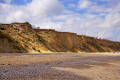 section cliff collapsed cromer norfolk uk coastline coastal environmental collapse danger beach seaside coast england english angleterre inghilterra inglaterra great britain united kingdom british grande-bretagne grande bretagne grandebretagne großbritannien gran bretagna bretaña