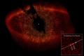 star fomalhaut toroidal debris ring. extra-solar extra solar extrasolar planet imaged visible light. space science misc. hst nasa astronomy cosmology gas giant piscis austrinus usa united states america american