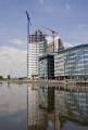 new development salford quays manchester building construction uk business commerce regeneration work progress reflections cranes lancashire lancs england english angleterre inghilterra inglaterra great britain united kingdom british grande-bretagne grande bretagne grandebretagne großbritannien gran bretagna bretaña