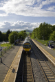 hope railway station derbyshire uk stations railways railroads transport transportation rural village platforms track train local peak district england english angleterre inghilterra inglaterra united kingdom british