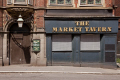 closed pub market tavern sheffield south yorkshire public houses bar alchohol british architecture architectural buildings uk boarded house city centre united kingdom
