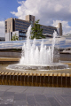 fountain midland railway station sheffield south yorkshire uk towns environmental water city centre modern feature england english angleterre inghilterra inglaterra united kingdom british