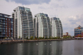 new appartment blocks salford quays manchester flats apartments british housing houses homes dwellings abode architecture architectural buildings canal regeneration modern high rise england english angleterre inghilterra inglaterra united kingdom