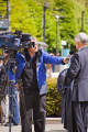 interview taking place channel news manchester tv television celebrities celebrity fame famous star filming microphone camera interviewer talking england english angleterre inghilterra inglaterra united kingdom british