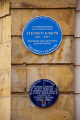 blues plaque commemorate stephen joseph scarborough north yorkshire theatres theater drama arts theatre round england english angleterre inghilterra inglaterra united kingdom british