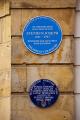 blues plaque commemorate stephen joseph scarborough north yorkshire theatres theater drama arts theatre round england english angleterre inghilterra inglaterra united kingdom british