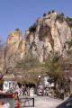 guadalest alicante spain. costa blanca mediterranean murcia spanish espana european sandstone casa castle cliffs precipitous geology spain spanien españa espagne la spagna