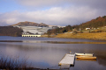 ladybower reservoir derbyshire environmental water bridge viaduct boats snow winter england english angleterre inghilterra inglaterra united kingdom british