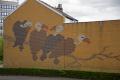 vulture mural gable end city centre sheffield south yorkshire murals arts wall art landmark england english angleterre inghilterra inglaterra united kingdom british