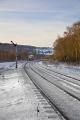 section railway line grindleford station derbyshire railways railroads transport transportation winter snow signal box peak district england english angleterre inghilterra inglaterra united states american