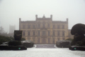mists... elvaston castle near derby uk stately homes british architecture architectural buildings winter wintery snow snowy scene house home rural old britain england midlands derbyshire earl harrington english angleterre inghilterra inglaterra united kingdom