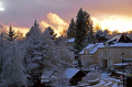 turbulent sunset snow showers. taken southern limousin france french landscapes european correze corrèze monedieres monédières weather meteorolgy twilight evening sky winter la francia frankreich