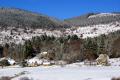 blue skies snow. cirque freysselines southern limousin france. french landscapes european corrèze correze snow forest france frozen monedieres monédières winter la francia frankreich