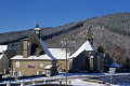 blue skies snow village chaumeil southern limousin france french landscapes european corrèze correze forest frozen monedieres monédières winter suc-au-may suc au may sucaumay church eglise mairie la francia frankreich