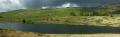 llyn cwmystradllyn reservoir north wales rural britain countryside rustic pastoral environmental criccieth lake resevoir green hills gwynedd welsh país gales united kingdom british