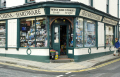 door ironmonger hardware shop pwllheil north wales uk shops commercial buildings retailers british architecture architectural iromonger buckets outside doorway gwynedd welsh país gales united kingdom