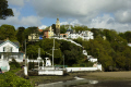 portmeirion village viewed beach north wales historical uk buildings history british architecture architectural hill clough williams-ellis williams ellis williamsellis gwynedd welsh país gales united kingdom