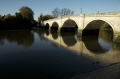 richmond bridge reflection river thames surrey uk bridges rivers waterways countryside rural environmental crossing england english angleterre inghilterra inglaterra united kingdom british