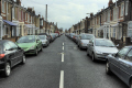 cars parked sides terraced victorian houses tredegar road southsea uk british housing homes dwellings abode architecture architectural buildings urban street pompey portsmouth hampshire hamps england english angleterre inghilterra inglaterra united kingdom