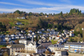 town tull france. french landscapes european corrèze correze river valley medieval mediaeval townscape urban shops offices commerce commercial limousin france la francia frankreich