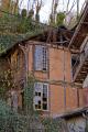 derelict house french town tulle. buildings european corrèze correze river valley urban limousin france la francia frankreich