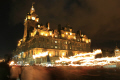 edinburgh new year torch parade balmoral hotel princes street midlothian central scotland scottish scotch scots escocia schottland united kingdom british