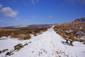 path burbage derbyshire countryside rural environmental snow winter seat bench peak district england english angleterre inghilterra inglaterra united kingdom british
