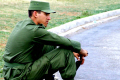 cuban soldier havana cuba men adult males masculine manlike manly manful virile mannish military armed communism communist fidel castro che guevara caribbean